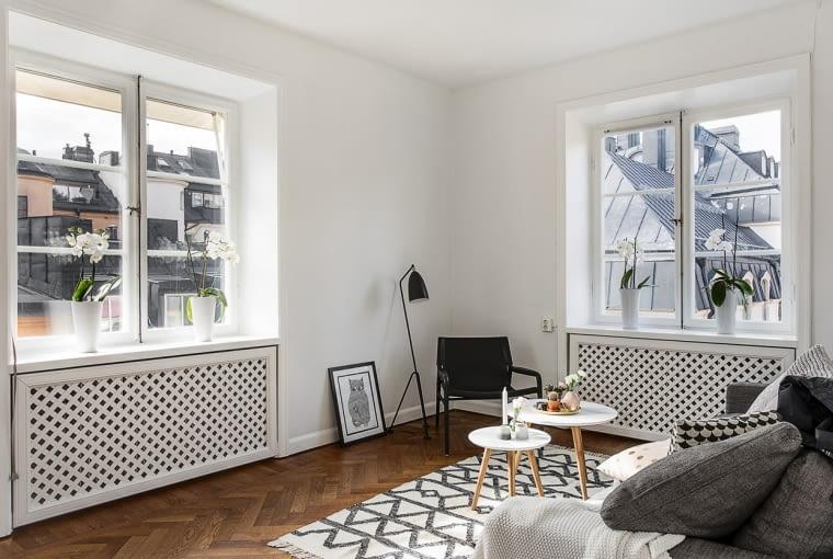 Białe mieszkanie w stylu skandynawskim