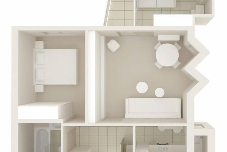 Mieszkanie w Warszawie, 49 m kw., dwa pokoje.