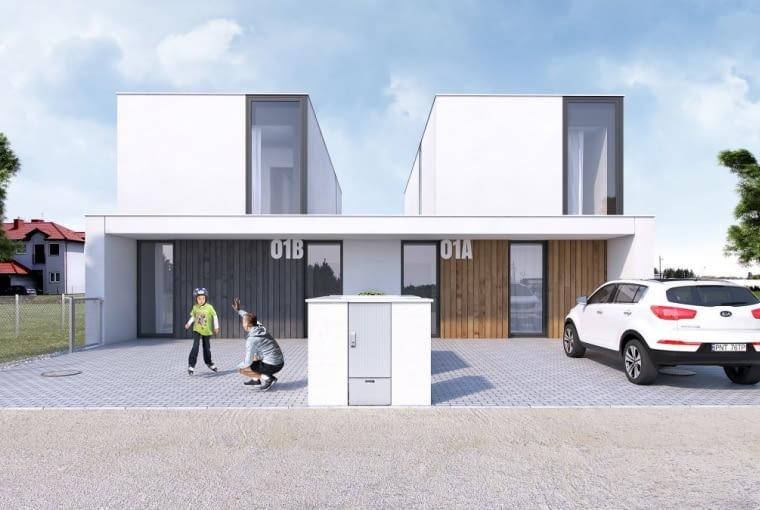 Wizualizacja domu podwójnego