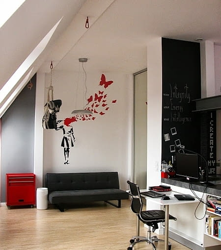 kawalerka, małe mieszkanie, kawalerka na poddaszu, małe mieszkanie na poddaszu