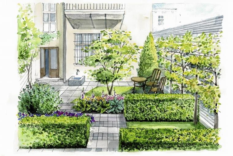 ogródek przy czynszówce