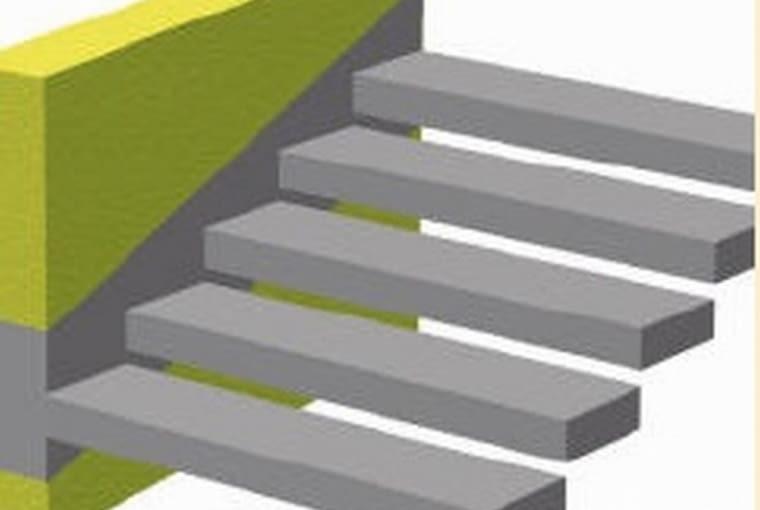 schody żelbetowe, schody wspornikowe