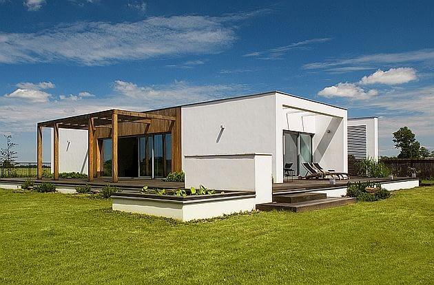 dom jednorodzinny, nowoczesny dom