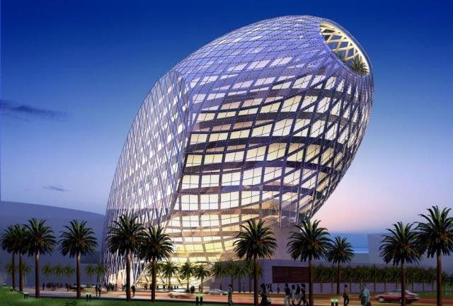 Cybertecture Egg, Bombaj, Indie, proj. James Law Cybertecture