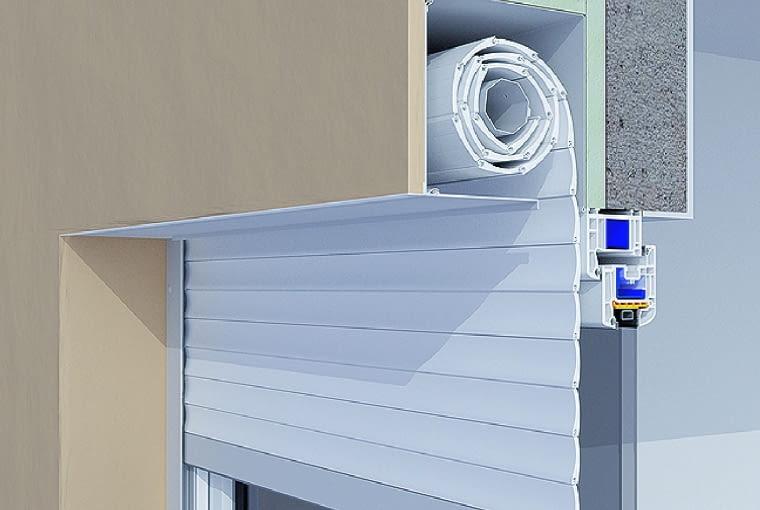 Rozwiązanie podtynkowe - roleta zamontowana pod warstwą izolacyjną
