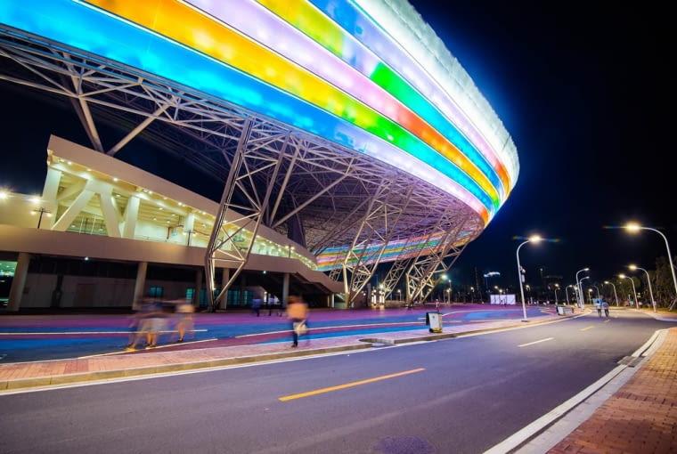 Zhanjiang Olympic Center Stadium, Zhanjiang - Chiny (X nagroda w głosowaniu internautów, III miejsce w głosowaniu jury) - Nowy stadion zaprojektowany przez CCDI może pomieścić blisko 40 tysięcy widzów.