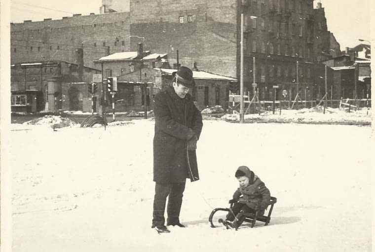 Ulica Grzybowska (między Żelazną a Waliców), 1969