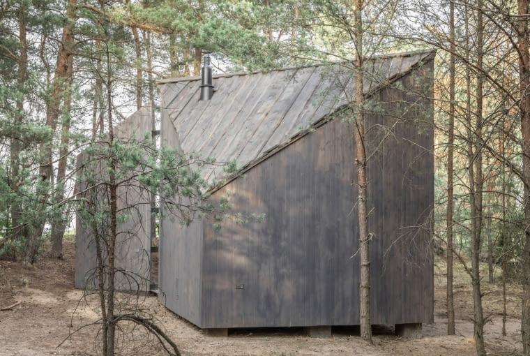 Bookworm Cabin w Adelinie. Proj. POLE Architekci.