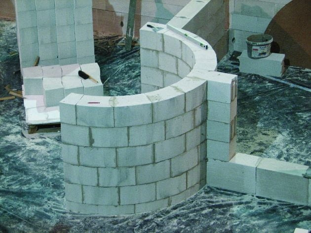 ściany działowe, murowanie ściny działowej