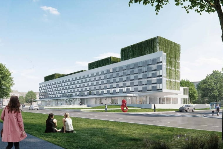 Jedna z koncepcji przebudowy Hotelu Cracovia na sidzibę Muzeum Architektury i Designu, projekt: Alicja Nowak.