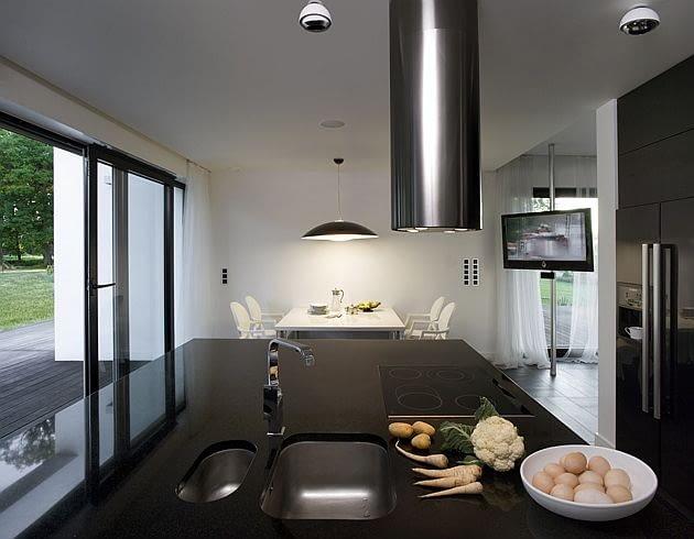 dom jednorodzinny, nowoczesny dom, kuchnia