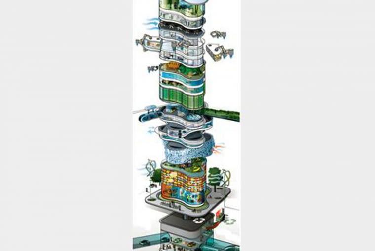 Wieżowiec przyszłości 2050, źródło: Arup
