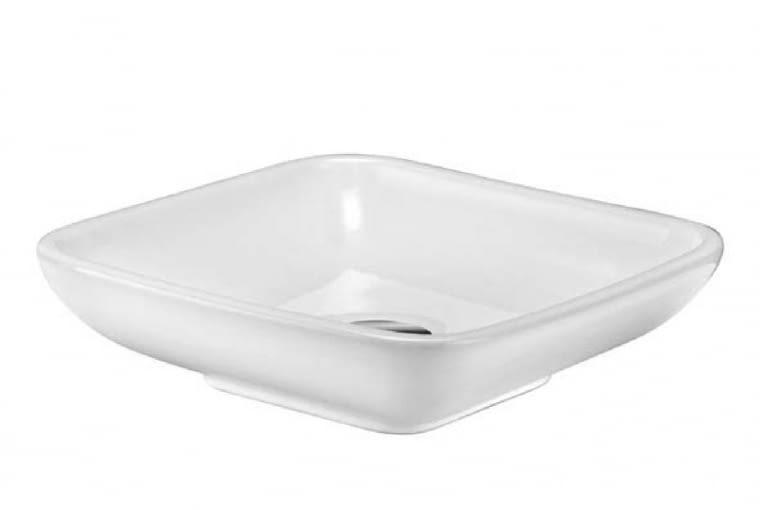 Kludi Plus/KLUDI. Umywalka wolno stojąca wykonana z ceramiki sanitarnej, przeznaczona do niewielkich łazienek; wymiary: 90 x 325 x 325 mm. Cena (netto): 568,30 zł, www.kludi.pl