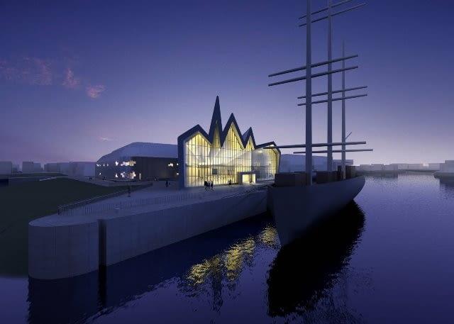 Riverside museum w Glasgow