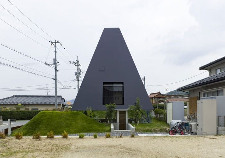 suppose design studio, primitive living, piramida, saijo, japonia, dom, dom jednorordzinny