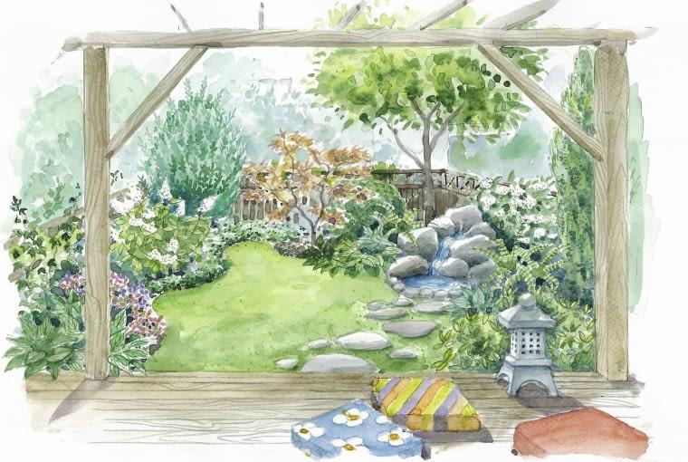 ogród za domem