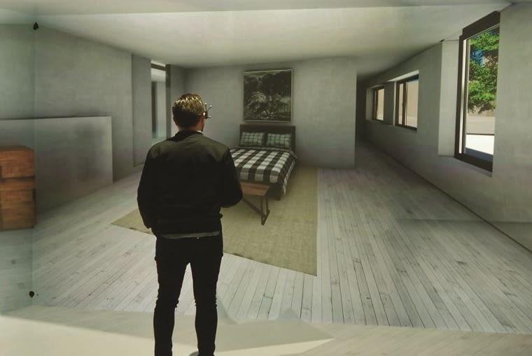 Pokój wirtualnej rzeczywistości w nowym biurowcu firmy Reynaers.