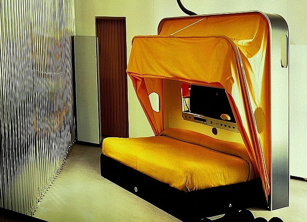 Cabriolet Bed; proj. Joe Collombo