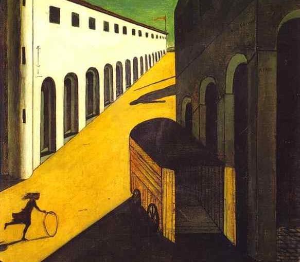 """Giorgio de Chirico, """"Tajemnica i melancholia ulicy"""""""