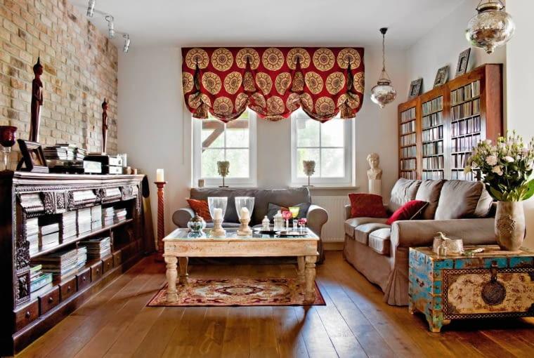 salon, styl orientalny, aranżacja salonu