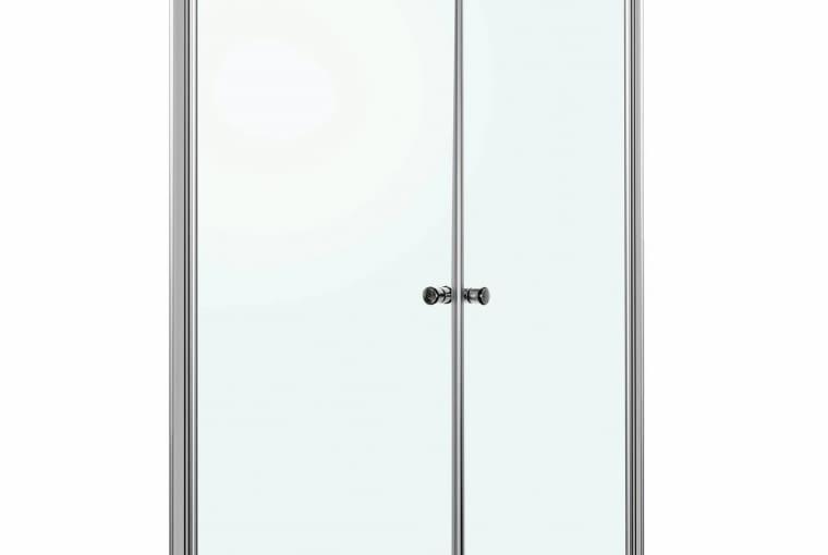 Kabina prysznicowa Madrid Kerra, szkło, 91 x 91 cm, wys. 185 cm, drzwi wahadłowe, Praktiker, cena: 699 zł
