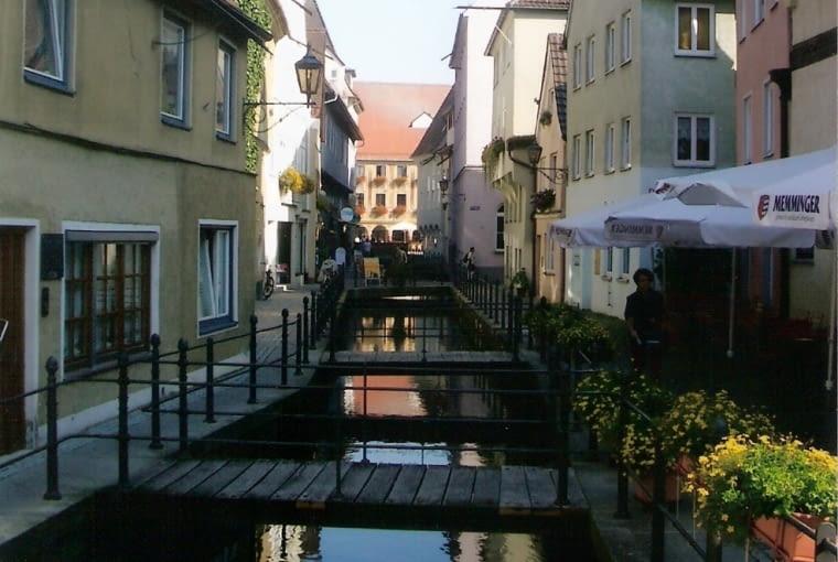 Rzeka Iller w Memmingen, fot. Yellowmellow45, CC BY-SA 3.0