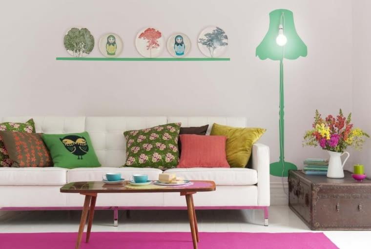 Szablon malarski na ścianę. Pomysł na modną dekorację