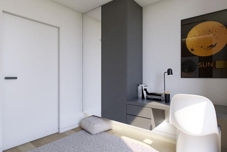 Projekt wnętrza w domu podwójnym