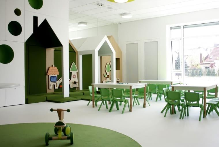 Żłobek Miejski nr 1 w Wągrowcu. Projekt budynku - biuro projektowe Wojciecha Błaszaka - Pracownia 21; projekt wnętrz - DECOCAFE