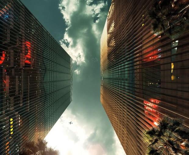 Zwycięski projekt to wizualizacja CLC & MSFL Towers - Shenzhen. Autorstwa Eric de Broche des Combes z Francji.