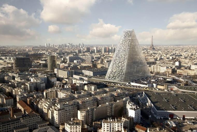 The Tour Triangle w Paryżu. Proj. Herzog & de Meuron