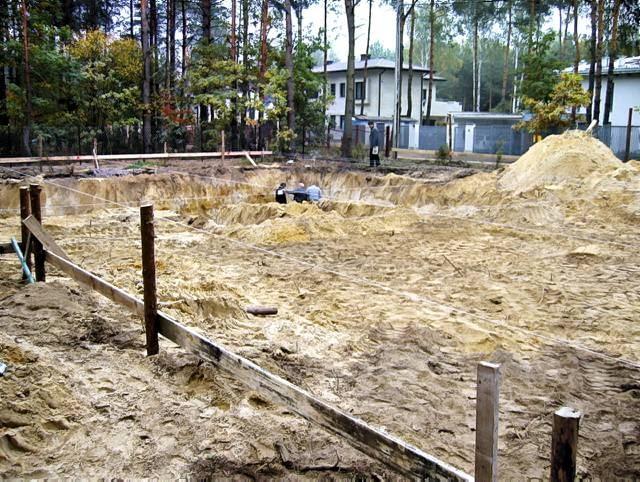Widok działki, w chwili rozpoczęcia budowy
