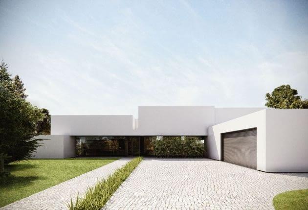 Prosta modernistyczna bryła budynku, ograniczona paleta kolorów oraz surowe materiały takie jak beton, drewno i szkło to cechy łączące współczesne realizacje. Jednym z pomysłów jest wypełnienie lub wręcz całkowite zastąpienie ściany ogromnymi przesuwnymi oknami.