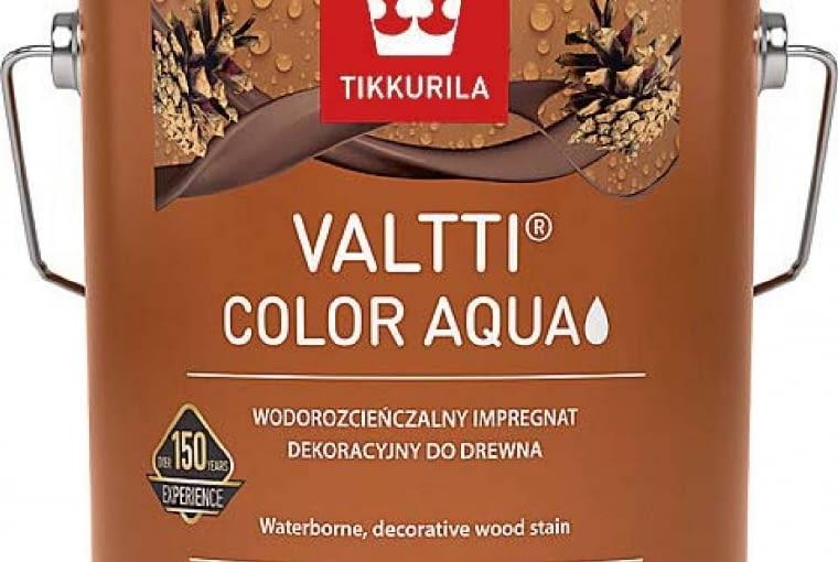VALTTI COLOR AQUA/TIKKURILA | wodorozcieńczalny, matowy impregnat koloryzujący | 40 kolorów. Cecna: 35,98zł/1l