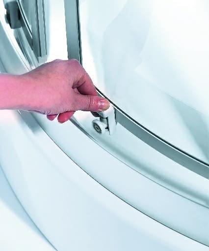 kabina prysznicowa odpinane rolki drzwi