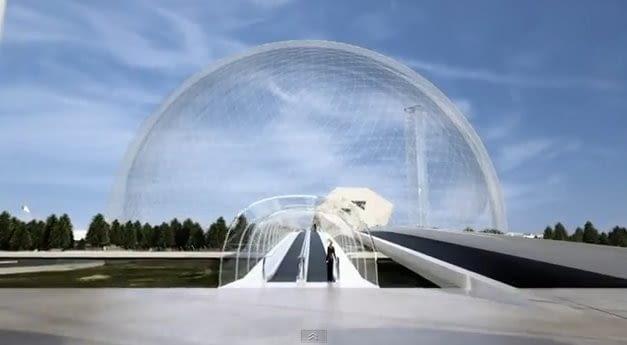 Kopuła - brama do miasta, proj. Yoshitaka Tanase, SANAA, źródło: http://sk.ru