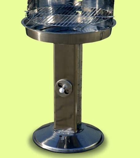 GRILLE WĘGLOWE. MG 639, obudowa ze stali nierdzewnej, ruszt chromowany, śr. 56 cm, regulacja dopływu powietrza, 230 zł, Mastergrill