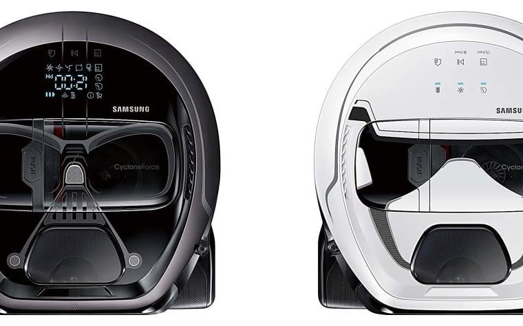 PowerBot Star Wars, funkcja dokładnego sprzątania przy ścianach i przeszkodach, 2299?zł (Stormtrooper), 2599?zł (Darth Vader), Samsung