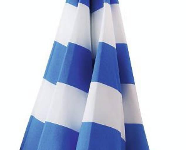 Parasol o średnicy 140 cm mocowany na wkręty (np. do parapetu na balkonie), możliwość zmiany kąta nachylenia; ok. 20 zł