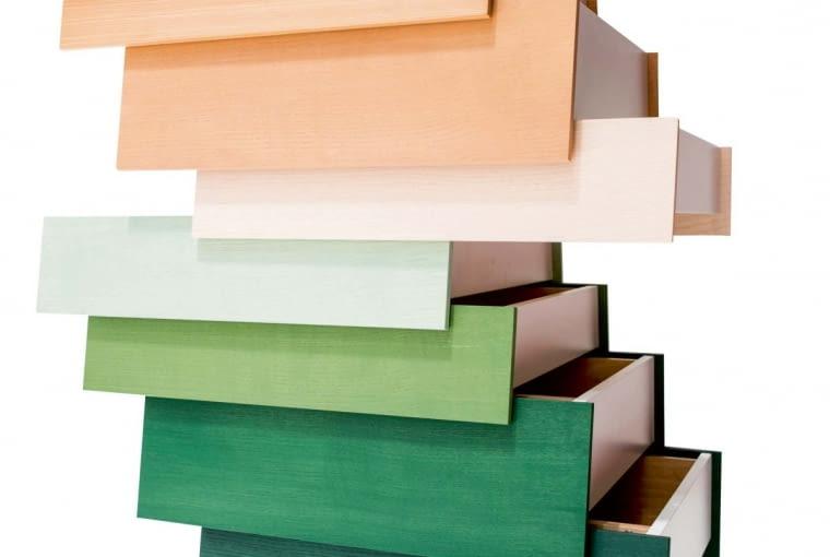 Komódka Stack wnowej gamie modnych kolorów, Established & Sons, www.establishedandsons.com