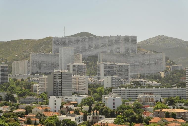 Jednostka Marsylska, proj. Le Corbusier - widok z dachu