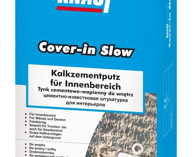 Knauf Cover-in Slow Tynk cementowo-wapienny do wnętrz, cena netto opakowanie 25 kg: 17,49 zł