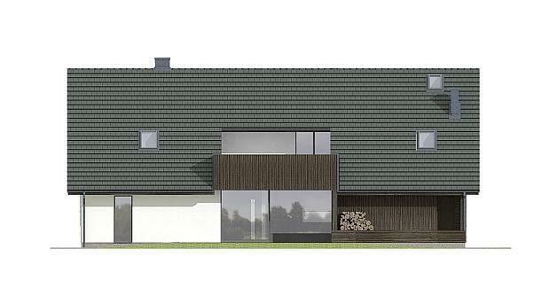 projekty domów, elewacja ogrodowa