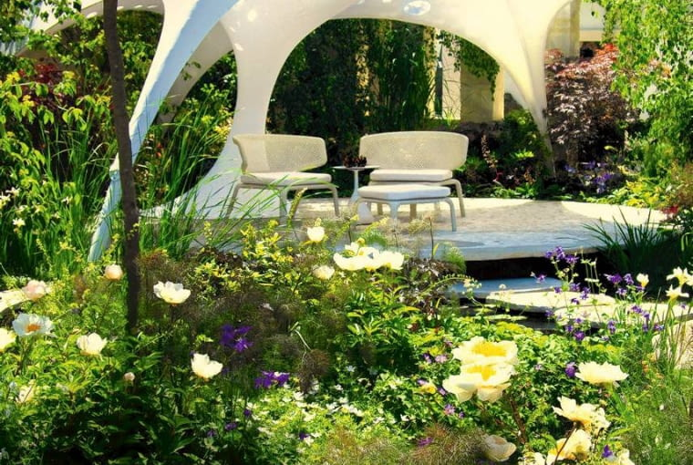25.05.2011 LONDYN CHELSEA FLOWER SHOW 2011 OGRODY WYSTAWOWE , PERGOLE , ALTANKI , DOMKI DLA CZASOPISMA OGRODY FOT. ARKADIUSZ SCICHOCKI / AGENCJA GAZETA SLOWA KLUCZOWE: OGROD