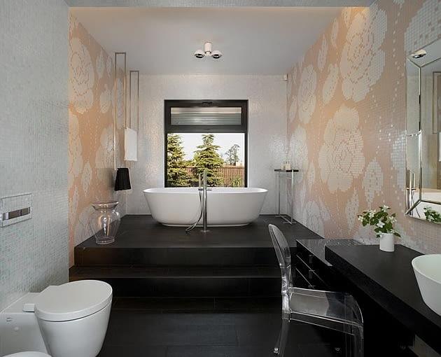 dom jednorodzinny, nowoczesny dom, łazienka