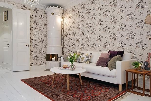 mieszkanie w kamienicy, mieszkanie z piecem kaflowym, mieszkanie w starej kamienicy, nowoczesne mieszkanie, mieszkanie w skandynawskim stylu