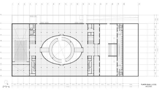 muzeum, alberto campo baeza, granada, minimalizm, hiszpania, beton, architekt, biurowiec