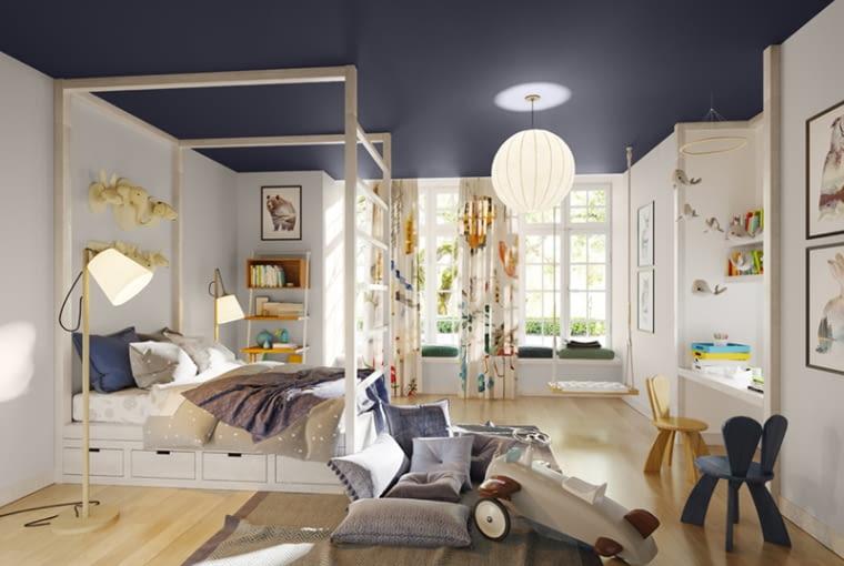 Pokój pomalowany farbami Magnat Sypialnia Pokój Dziecka