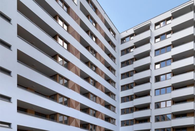 Wyróżnienie: budynek wielorodzinny nowy. Osiedle #dobrego w Krakowie (projekt: UCEES, realizacja: Budimex)