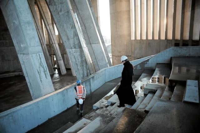 18.11.2009 WARSZAWA , WNETRZE SWIATYNI OPATRZNOSCI BOZEJ W WILANOWIE .